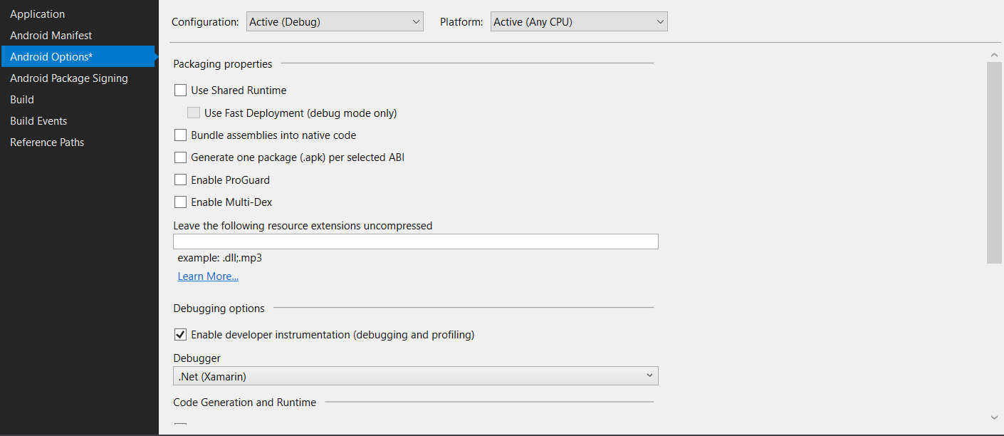 Test any mobile app - project configuration for AppCenter